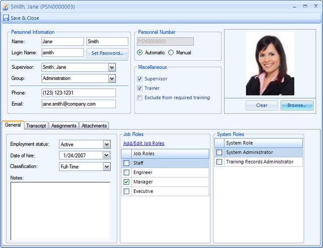 Training Manager User Guide